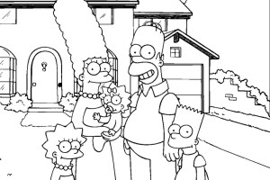 Family pic Simpsons Free Coloring Pages | Coloring Pages To Print