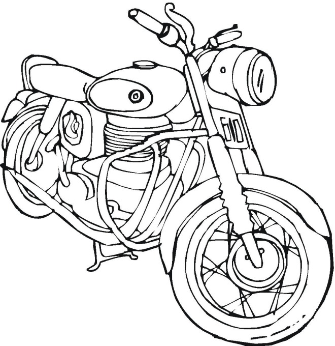 Free Motorcycle coloring page, letscoloringpages.com, Honda