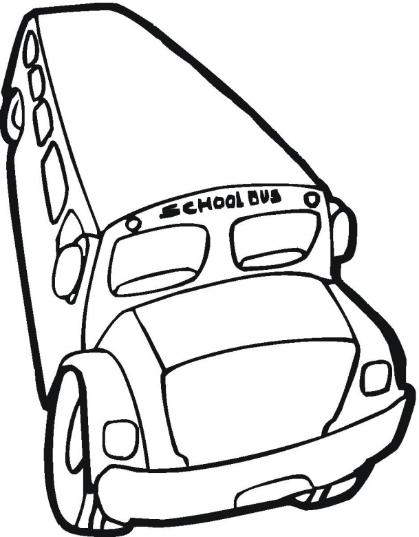 School House Coloring Pages Coloring For Kids Yellow Bus