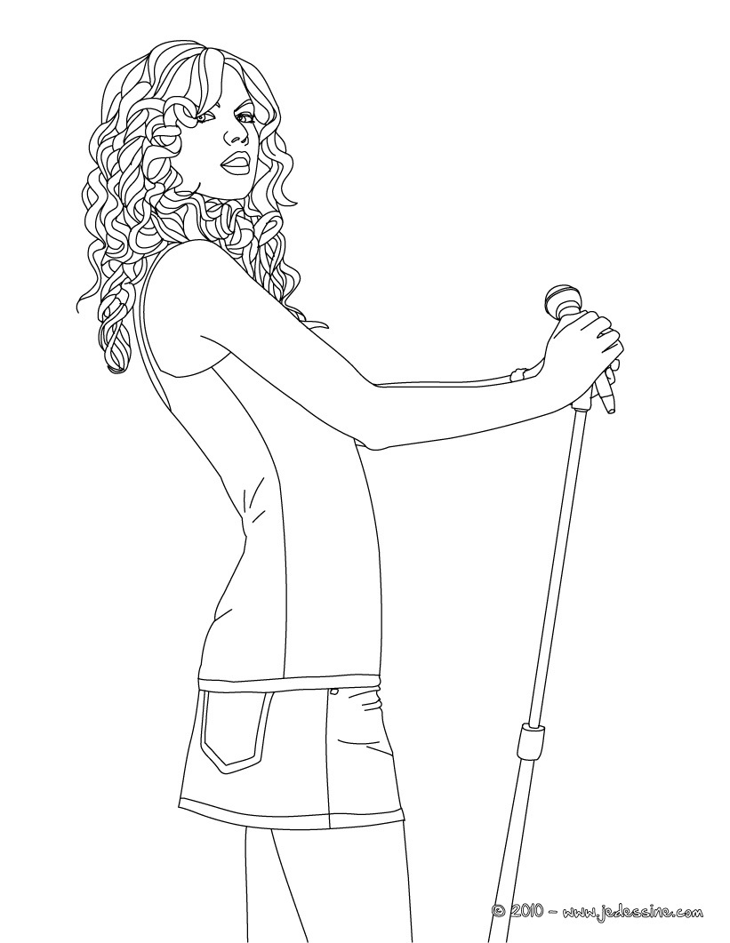 Taylor Swift Coloring Pages | celebrities coloring pages | coloring ...