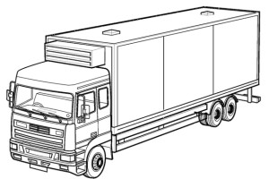 Truck coloring pages | color printing | coloring sheets | #19