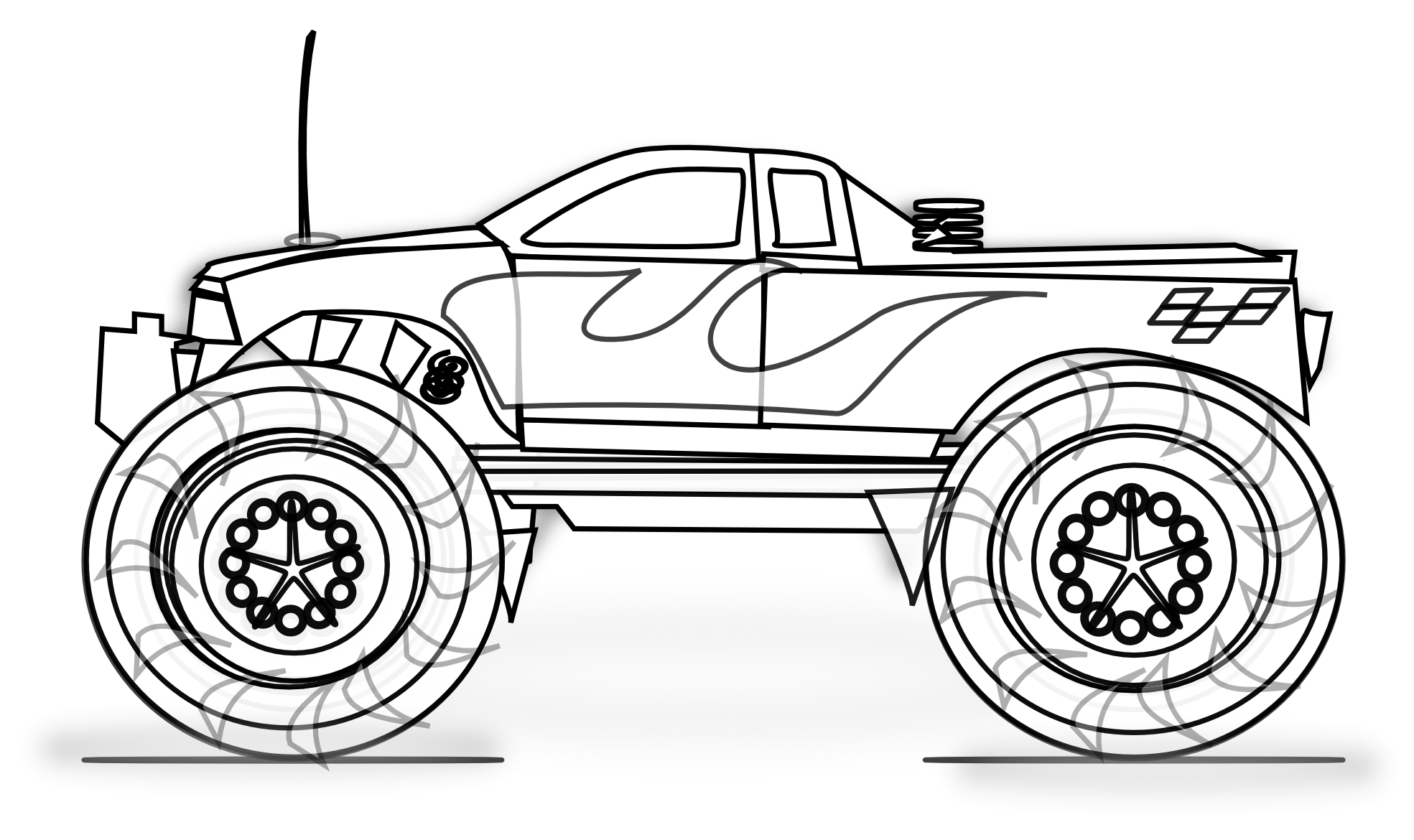 superman monster truck coloring pages - photo#14