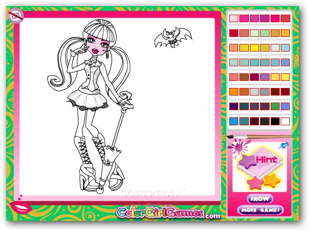 Monster High Drawing Games Kids How To Draw Clawdeen Step By