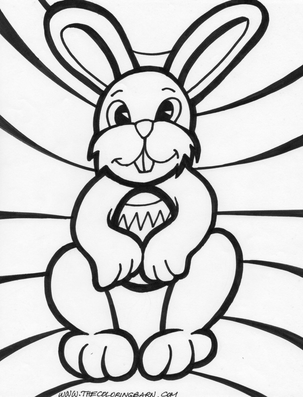 Easter Bunny Coloring pages easter