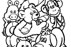 Doggie Elmo coloring pages