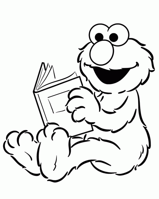 elmo coloring pages numbers preschool - photo#7