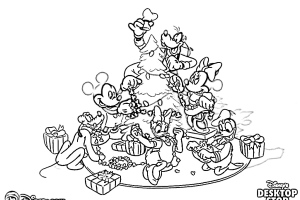 DISNEY Christmas Coloring Pages | Christmas Coloring Pages for kids | Christmas Coloring Pages FREE |4