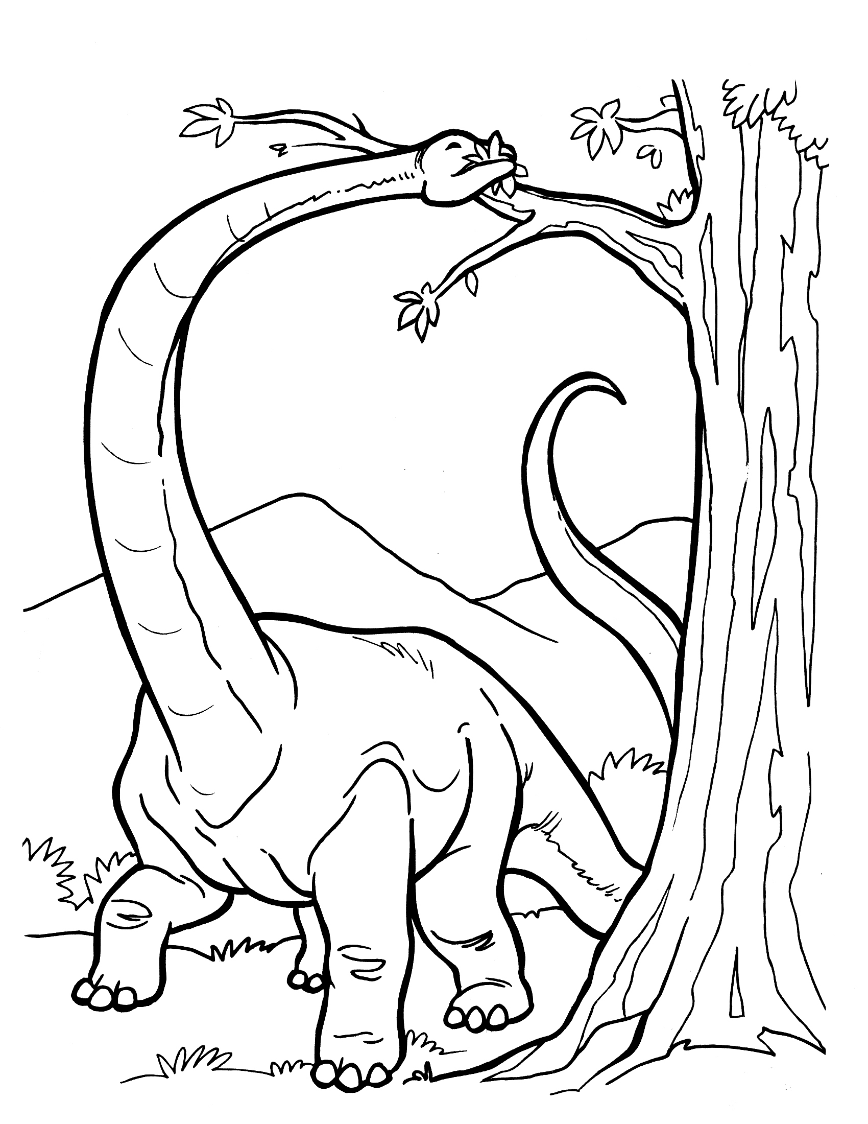 Long dinosaur coloring pages coloring pages for boys for Printable coloring pages dinosaurs
