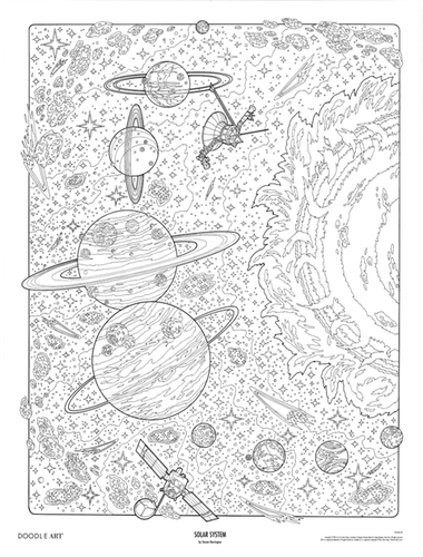 Solar System Coloring Page | Kids Coloring… | PBS KIDS for Parents | 500x380