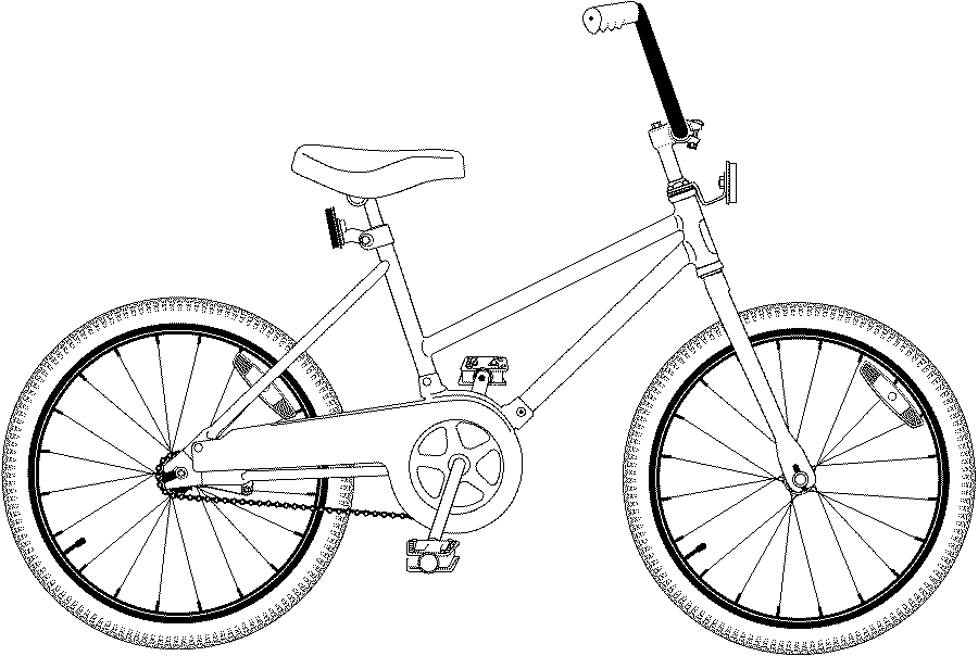 Kids Bike Coloring page Coloring pages to print Color