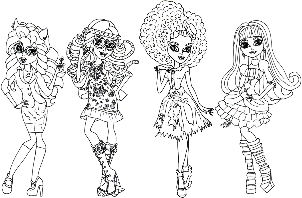 Monster High Coloring Pages Coloring Pages For Girls Cool