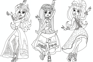 Monster High Coloring Pages | Coloring pages for Girls | Cool coloring page | #17