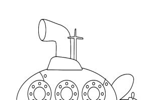 Submarine Coloring pages | kids coloring pages | Coloring pages for kids | #21