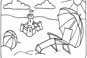 Beach Kids Coloring Pages