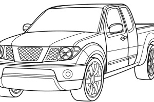 Nissan Titan Truck Printable Coloring Pages for Kids