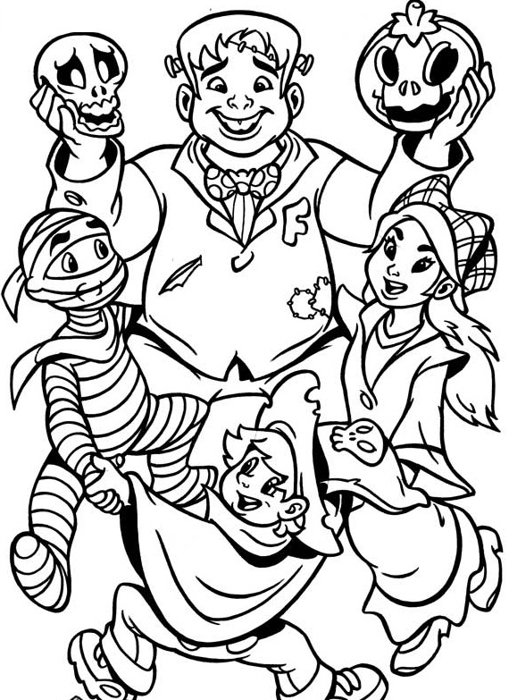 Monster Halloween Print Coloring Pages