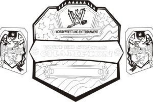 WWE Belt Coloring Pages for Kids